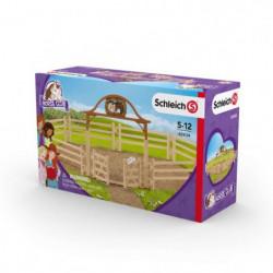 SCHLEICH - Figurine 42434 Pré pour chevaux avec portail