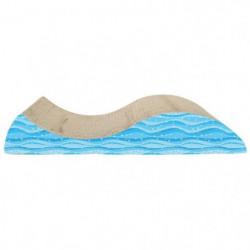 CAT LOVE Griffoir en forme de vague avec herbe a chat