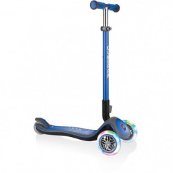 GLOBBER Trottinette Elite Deluxe Lights 3 roues - Bleu marin