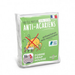 SWEETHOME Protege-matelas 100% coton - Anti-acariens