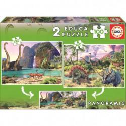 EDUCA Puzzle 2 x 100 Pieces - Dino World