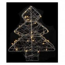 Sapin de Noël artificiel Métal - 40 LED - 25 x 6 x 30 cm
