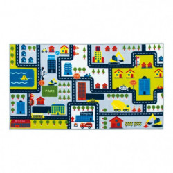 CIRCUIT Tapis enfant - 75 x 133 cm - Polyamide - Multicolore