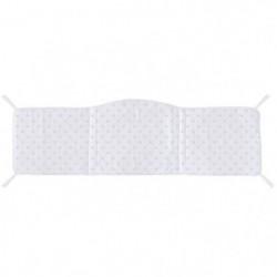 ABSORBA Tour de lit déhoussable Chut bébé dort - 100% coton