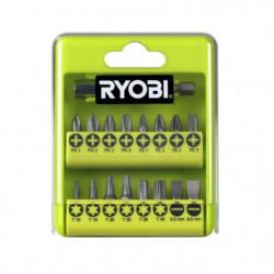 RYOBI Boîte cristal 17 accessoires de vissage