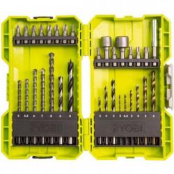 RYOBI Coffret 32 accessoires perçage/vissage/boulonnage