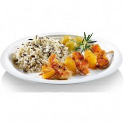 NATURESSE - 5015-12 - 12 assiettes rondes - Canne a sucre