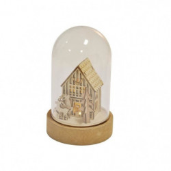 AUTOUR DE MINUIT Cloche en verre lumineuse décor maison