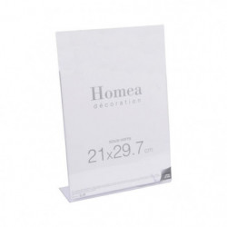 Porte-photo à poser Homea 21x29,7 cm transparent