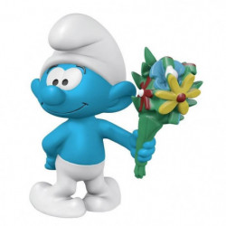 Schleich Figurine 20798 - Schtroumpf  - Schtroumpf avec bouquet