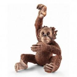 Schleich Figurine 14776 - Animal sauvage - Jeune orang-outan