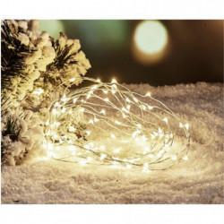 Guirlande de Noël Filaire - 80 Mini LED - Blanc froid