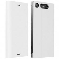 Etui Xperia Z1 Housse d'Origine Clapet Folio Stand Blanc