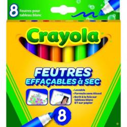 Crayola - 8 Feutres effaçables a sec - boîte française -