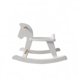 HANGZHOU TOYS - Cheval à bascule blanc - en bois