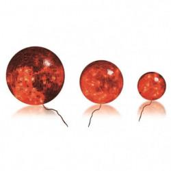 BLACHERE 3 boules verre Rouge - Ø Boules - 20/15/10 cm
