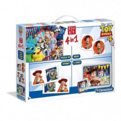 CLEMENTONI Edukit 4 en 1 - Toy Story 4- Mémo, Domino, Puzzle
