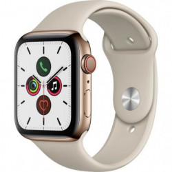 Apple Watch Series 5 Cellular 44 mm Boîtier en Acier Inoxydable