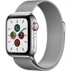 Apple Watch Series 5 Cellular 40 mm Boîtier en Acier Inoxydable