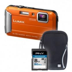 FT30 orange + sacoche + carte 8Go - Appareil photo compact