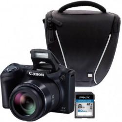 Canon PowerShot SX410 IS Noir + Sacoche + Carte 8 Go