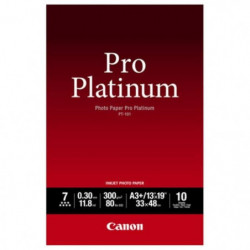 CANON Pack de 1  Papier photo pro platinum 300g/m2 - PT-101