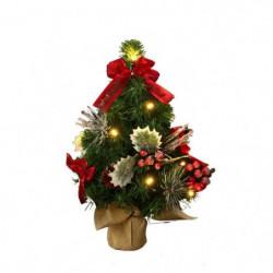 Sapin de Noël lumineux en Plastique Blanc 10x30 cm