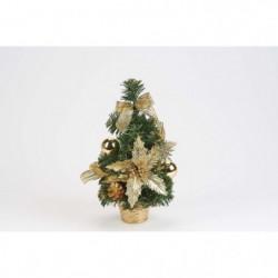 Sapin de table déco Noël en PVC - H 30 cm - Or