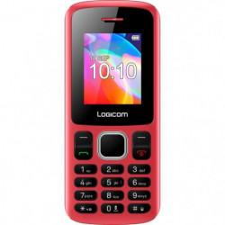 LOGICOM Le POSH 178 Téléphone portable Rouge 32 Mo
