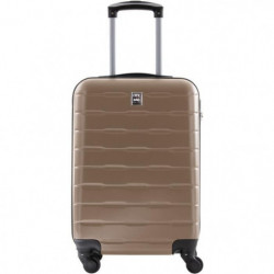 CITY BAG Valise Cabine ABS 4 Roues Champagne