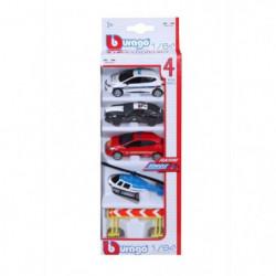 BBURAGO Pack de véhicules d'intervention et accessoires Bburago