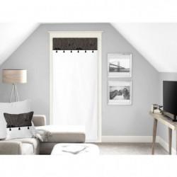 SOLEIL D'OCRE Voilage Oasis - 100% coton - 90 x 200 cm