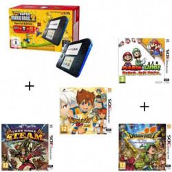 4 jeux + console 2DS Bleue + New Super Mario Bros 2 + Mario