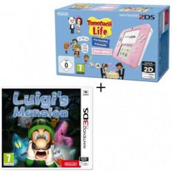 Console 2DS Rose / Blanc avec Jeu Tomodachi Life Préinstallé