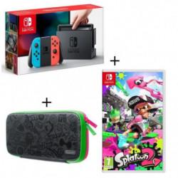 Console Nintendo Switch avec Joy-Con Néons + Jeu Splatoon 2