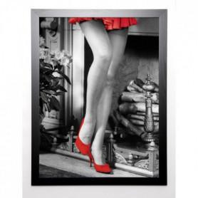 MARKS Image encadrée Woman by the Fireplace 67x87 cm