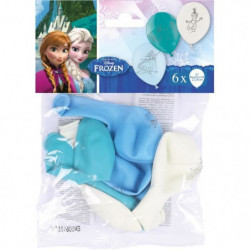 AMSCAN 6 Ballons latex Reine des Neiges 9 poujces