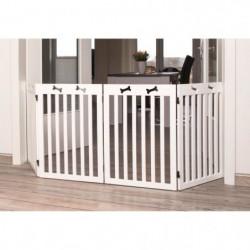 TRIXIE Barriere de sécurité - 4 pieces - 60-160x75 cm - Blanc
