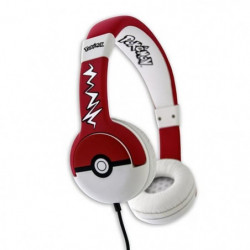 Casque Pokemon Pokeball Junior - Rouge et Blanc