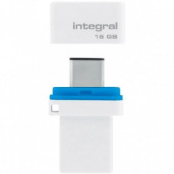 INTEGRAL Clé 16 Go USB 3.1 & Type-C Fusion double Connecteur