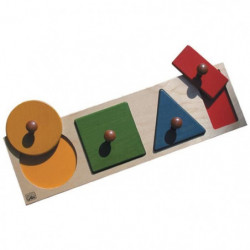 BSM Jeu d'encastrement Formes géométriques et couleurs - Mixte