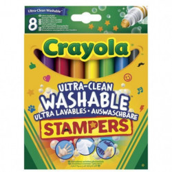 Crayola - 8 Mini Stampers Emoticones ultra-lavables - se nettoie
