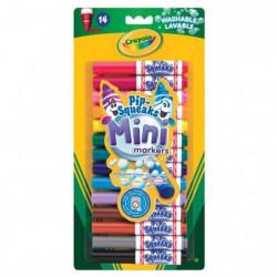 Crayola - 14 Mini feutres a colorier - Coloriage