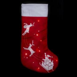 Botte de Noël en Feutrine Lumineuse - H 45 cm