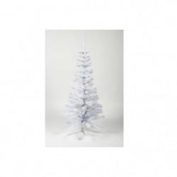 Sapin de Noël artificiel - H 150 cm - 200 branches - Blanc