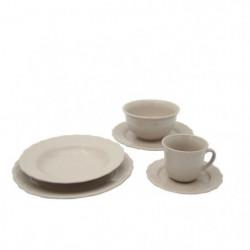Service de table - 24 pieces - Collection Patrimo - beige