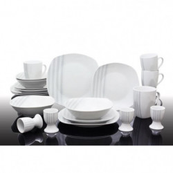 T1810503-40X - Service de table 40 pieces Nina - Porcelaine