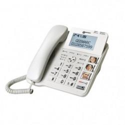 GEEMARC CL595 Téléphone fixe seniors amplifié, grosses touches