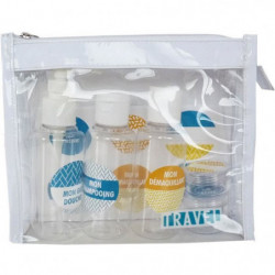 GLAMOUR SPA - TROUSSE SPECIAL VOYAGE - 3 tubes transparents + 2