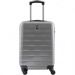 CITY BAG Valise Cabine Ultralight ABS 4 Roues Argent